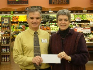 Bob Kims, Store Director, Raley's Jackson Store and Linda Kangeter, President Calaveras Community Foundation.