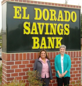 Assistant VP/Branch Manager, Theresa Justice, El Dorado Saving Bank, San Andreas and Linda Kangeter, President CCF